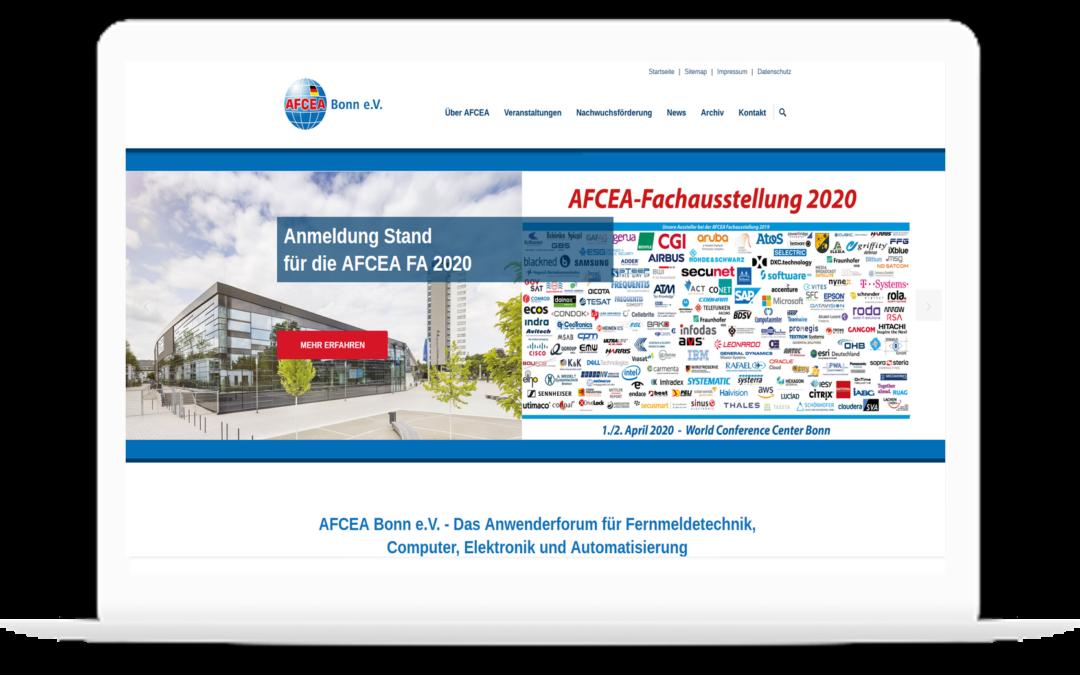 Projektleitung der neuen Webseite von AFCEA Bonn e.V. (TYPO3/Content