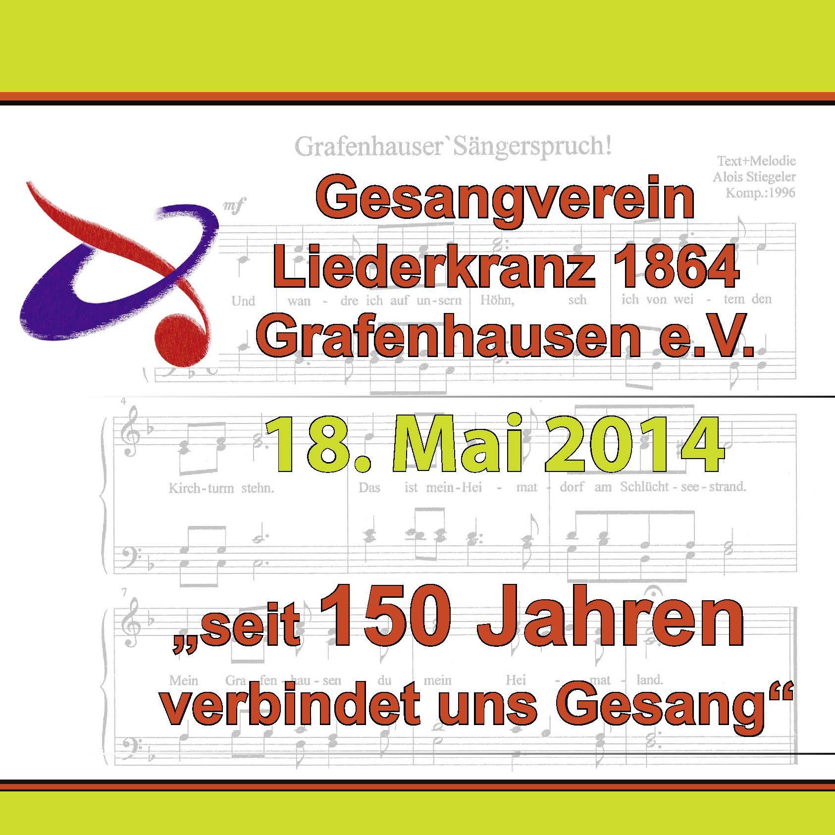 Broschüre Gesangverein Liederkranz 1864 Grafenhausen e.V.